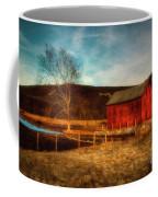 Red Barn At Twilight Coffee Mug