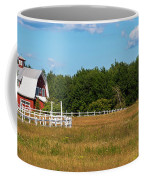 Red Barn In Meadow, Knowlton, Quebec Coffee Mug