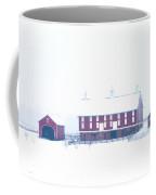 Red Barn On A Snowy Day - Gettysburg Coffee Mug by Bill Cannon