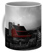 Red Barn On The Farm And Lightning Thunderstorm Bwsc Coffee Mug by James BO  Insogna
