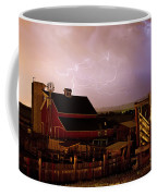 Red Barn On The Farm And Lightning Thunderstorm Coffee Mug by James BO  Insogna