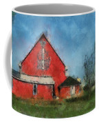 Red Barn Rear View Photo Art 03 Coffee Mug