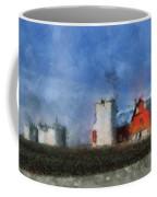 Red Barn With Silos Photo Art 03 Coffee Mug