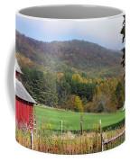 Red Barns And Mountains Coffee Mug
