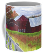 Red Barns At Freehold Coffee Mug
