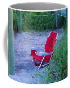 Red Beach Chair Coffee Mug