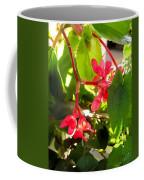 Red Begonia Peaking Through The Leaves Coffee Mug