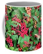 Red Berries And Green Leaves Coffee Mug