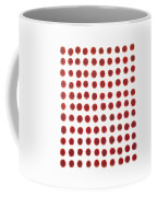 Red Berries In A Grid Coffee Mug