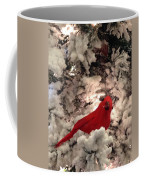 Red Bird In A Snow Covered Tree Coffee Mug