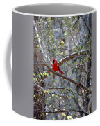 Red Bird In Dogwood Coffee Mug