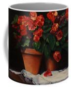 Red Bloom In Terracotta Coffee Mug