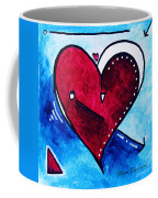 Red Blue Heart Love Painting Pop Art Joy By Megan Duncanson Coffee Mug