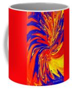 Red Blue Orange Red Yellow Swirl Coffee Mug