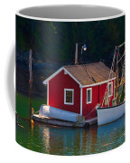Red Boat House Coffee Mug