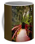 Red Bridge In Southern Plantation Coffee Mug