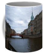 Red Bridge View - St. Petersburg - Russia Coffee Mug