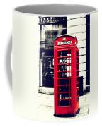 Red British Telephone Booth Coffee Mug