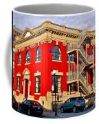 Red Building On Water Street In Saint John's-nl Coffee Mug