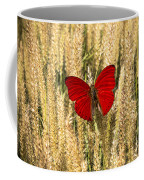 Red Butterfly In The Tall Weeds Coffee Mug