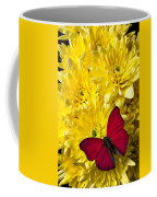 Red Butterfly On Poms Coffee Mug