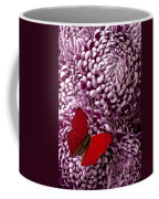 Red Butterfly On Red Mum Coffee Mug