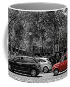 Red Car In Paris Coffee Mug