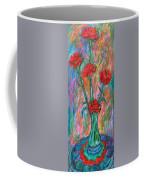 Red Carnation Melody Coffee Mug
