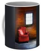 Red Chair In Panelled Room Coffee Mug