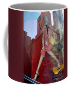 Red Cheque Reflections Coffee Mug