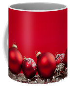 Red Christmas Baubles And Decorations Coffee Mug
