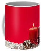 Red Christmas Candles Coffee Mug by Elena Elisseeva