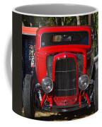 Red Classic Hotrod Coffee Mug
