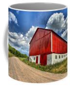 Red Country Barn Coffee Mug