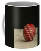 Red Cricket Ball Coffee Mug