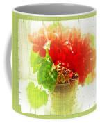 Red Cyclamen On Windowsill Coffee Mug