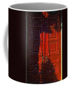 Red Door Behind Mysterious Shadow  Coffee Mug