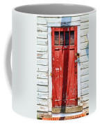 Red Door By Diana Sainz Coffee Mug by Diana Sainz