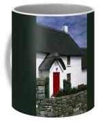 Red Door Thatched Roof Coffee Mug