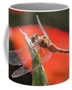 Red Dragonfly Coffee Mug