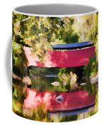 Red Fairhill Covered Bridge Coffee Mug