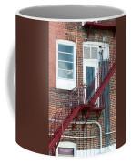 Red Fire Escape Usa II Coffee Mug