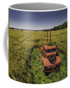 Red Firetruck In The Field Coffee Mug