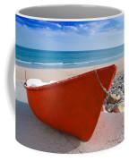 Red Fishing Boat Algarve Portugal Coffee Mug
