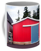 Red Fishing Shack Pei Coffee Mug by Edward Fielding