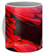 Red Flames Hot Rod Coffee Mug by Garry Gay