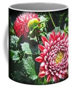 Red Floral Coffee Mug