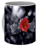 Red Flower Petals Coffee Mug