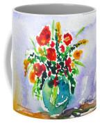 Red Flowers In A Vase Coffee Mug