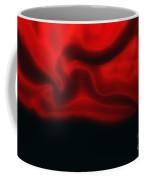 Red Folded Satin Background Coffee Mug